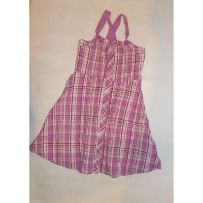 116-122-es rózsaszín kockás ruha - George