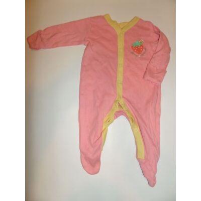 56-62-es rózsaszín hosszúujjú rugi