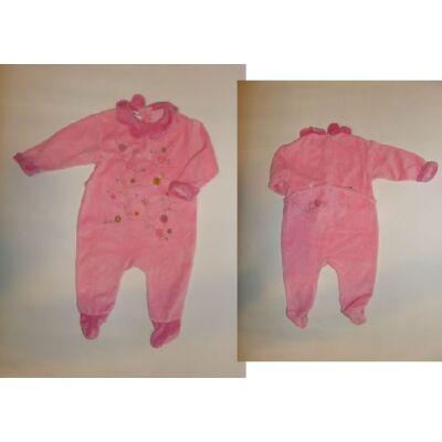 68-74-es rózsaszín hosszúujjú plüss rugi
