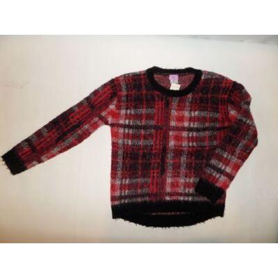 128-134-es piros kockás szőrmés pulcsi - F&F