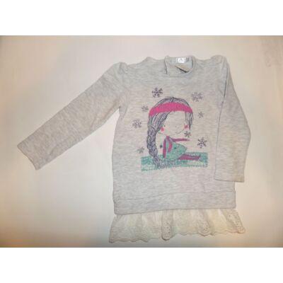 86-os szürke lányos pamutfelső - Pepco