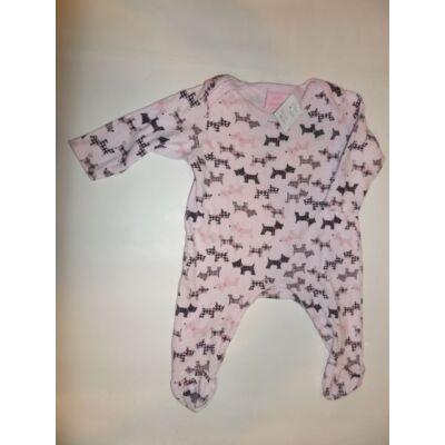 62-68-as rózsaszín kutyás hosszúujjú rugi - Bebe Bonito