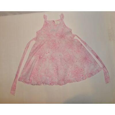86-92-es rózsaszín virágos ujjatlan ruha