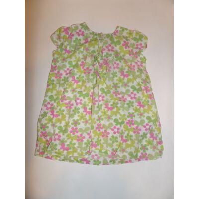 86-92-es zöld virágos ruha - TU