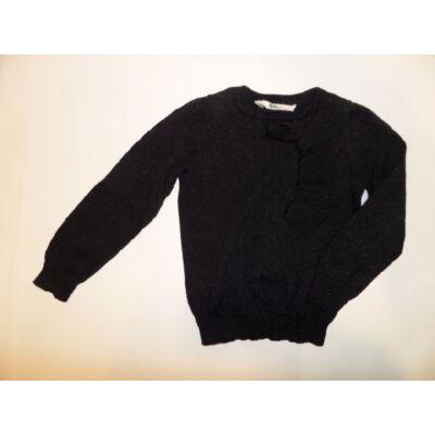 98-as fekete csillogó pulóver - H&M