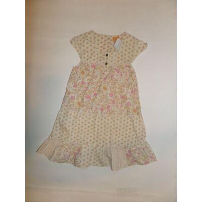 104-110-es drapp virágos ruha - Mini Mode