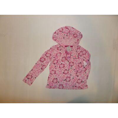 104-es rózsaszín virágos kapucnis pamutfelső - Faded Glory