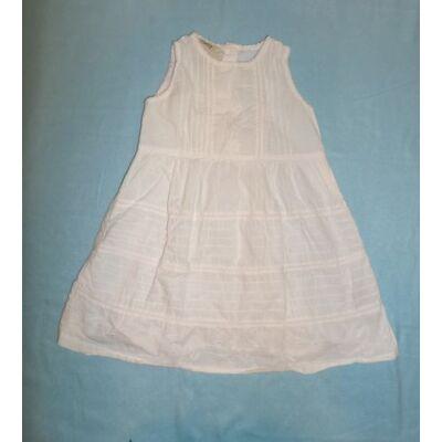110-es fehér ujjatlan hímzett ruha - Chiboogi