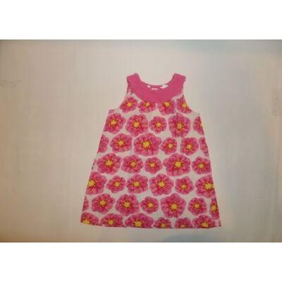 110-es rózsaszín virágos ujjatlan ruha