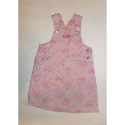 116-os rózsaszín virágos kantáros ruha - Exit