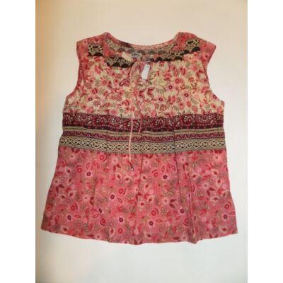122-es rózsaszín virágos ujjatlan blúz - Zara
