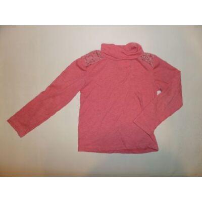 116-os rózsaszín csipkés pamutfelső - Charanga