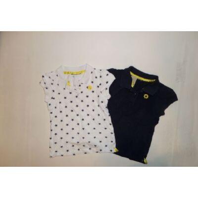 110-116-os lány galléros pólók, 2 db egyben