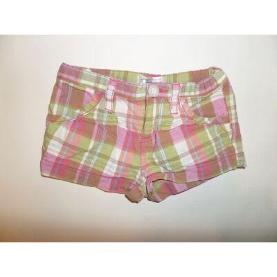 104-es rózsaszín-zöld kockás lány short