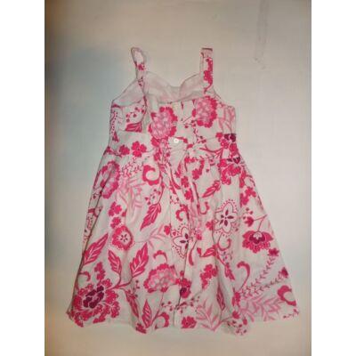 116-os fehér-rózsaszín virágos pántos ruha