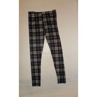 140-es fekete kockás leggings - Pepco