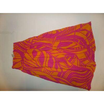 140-es rózsaszín-narancssárga pánt nélküli ruha