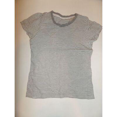 122-128-as szürke csíkos lány póló