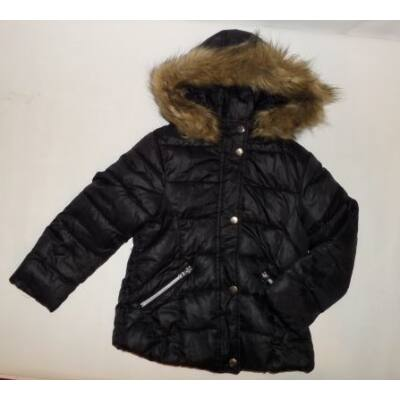 116-os fekete lány téli kabát - Zara