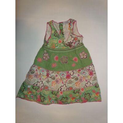 86-os zöld virágos ujjatlan ruha - Next