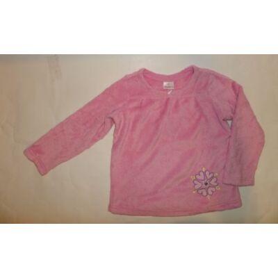 140-es rózsaszín szőrmés pulóver - Hanna Anderson