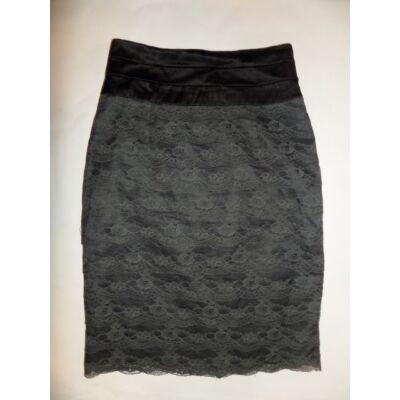 152-es (női 32-es ) szürke csipkés szoknya - H&M