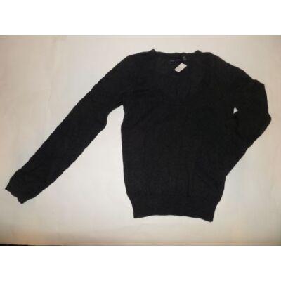 152-es sötétszürke kötött lány pulóver - Zara