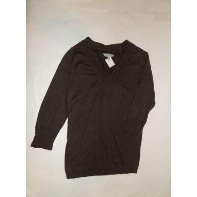 158-164-es barna kötött pulóver