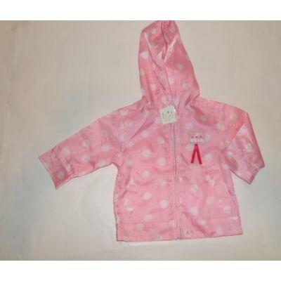 74-80-as rózsaszín pöttyös átmeneti kabát