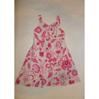 122-es fehér-rózsaszín virágos ruha