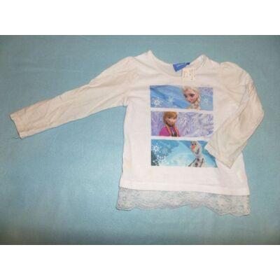 92-98-as fehér pamutfelső - Jégvarázs, Frozen