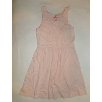 146-152-es barackszínű csipkés ujjatlan ruha - Pepperts