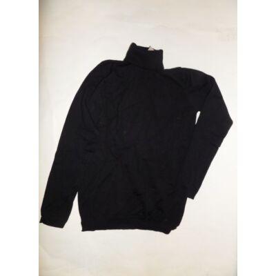 164-es fekete garbónyakú lány pulcsi - Zara