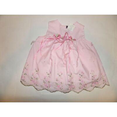 68-as rózsaszín hímzett ujjatlan alkalmi ruha