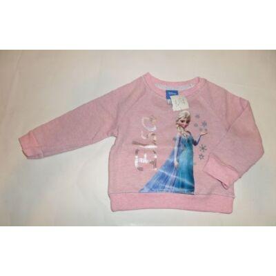 80-86-os rózsaszín pulóver - Frozen, Jégvarázs