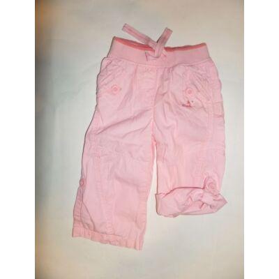 80-as rózsaszín roll-up vászonnadrág - Next