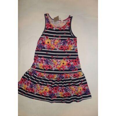 122-128-as kék virágos ujjatlan ruha - H&M