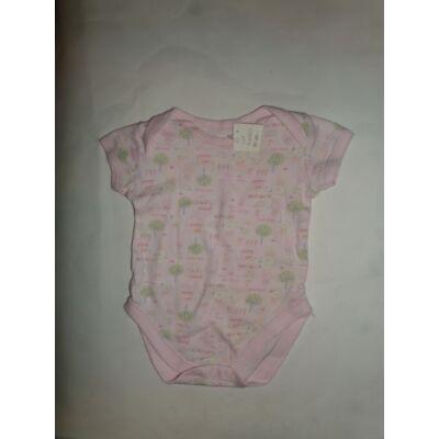 68-as rózsaszín mintás rövidujjú body - George