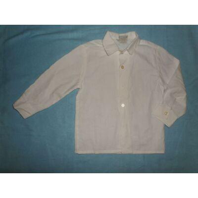 104-110-es fehér hosszúujjú ing