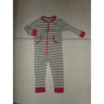 98-104-es szürke-pink kezeslábas pizsama - X-Mail