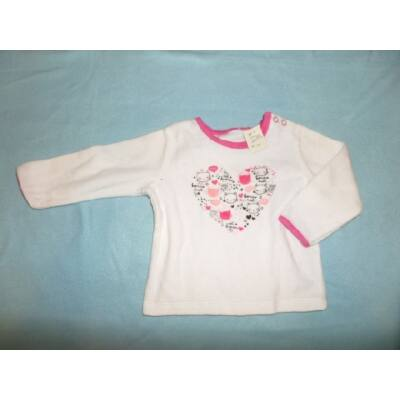 86-os fehér-pink plüss pulcsi