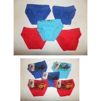 5-7 évesre színes autós alsónadrágok, 5 db egyben - ÚJ