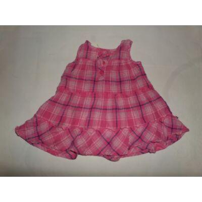 56-os rózsaszín kockás ruha - Mothercare