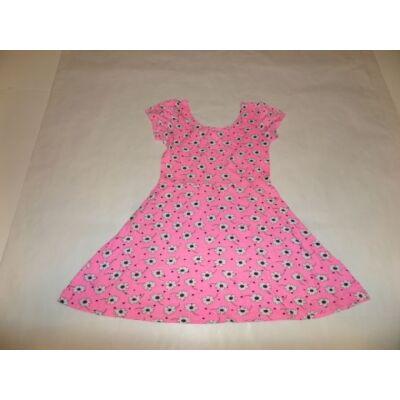 128-134-es rózsaszín virágos ruha - Young Dimension