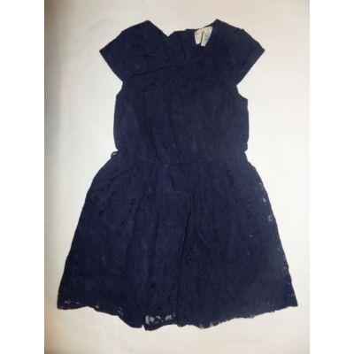 128-134-es kék csipkés alkalmi ruha