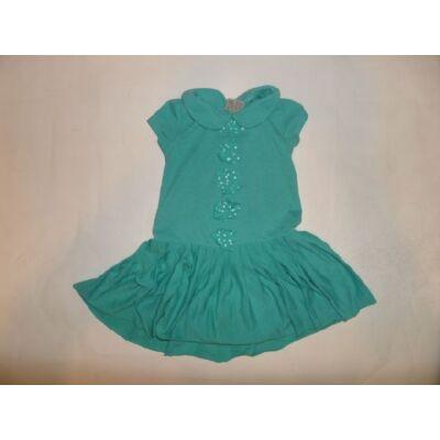 86-92-es zöld fodros ruha