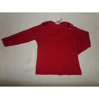 92-98-as piros flitteres pamutfelső - Evie Angel