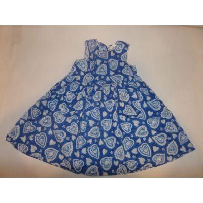 98-as kék szivecskés vászonruha