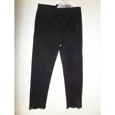 104-es fekete csipkés aljú leggings - Kiki & Koko - ÚJ