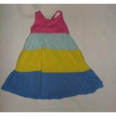 104-es színes csíkos pamutruha - Mothercare